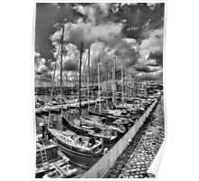 Boats  at the port of Catania Poster