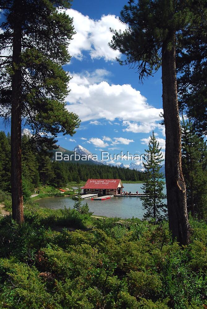 The Boat House -Maligne Lake Canada by Barbara Burkhardt