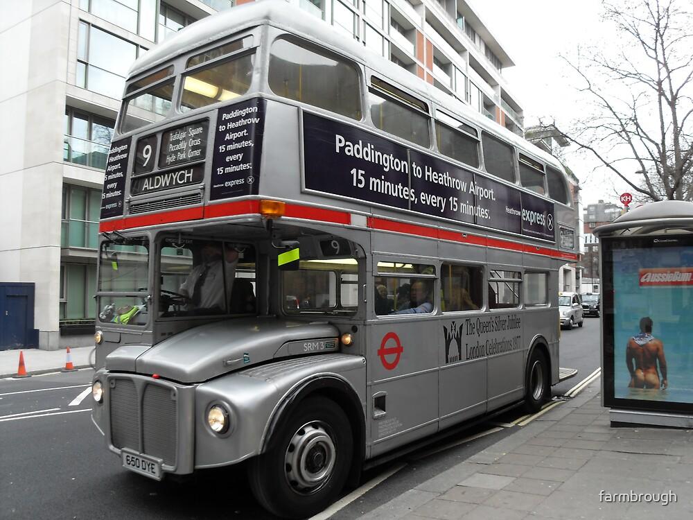 Silver London Bus by farmbrough