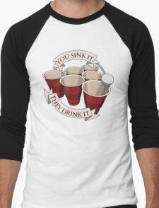 Beer Pong Champion Men's Baseball ¾ T-Shirt