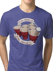 Beer Pong Champion Tri-blend T-Shirt