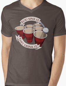 Beer Pong Champion Mens V-Neck T-Shirt