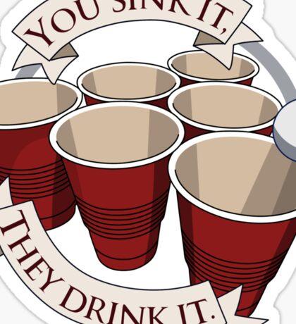 Beer Pong Champion Sticker