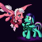 Mad T Ponies - Mally and Thackery by CherryGarcia