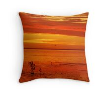 Sunsets on the mudflats of Roebuck Bay Throw Pillow