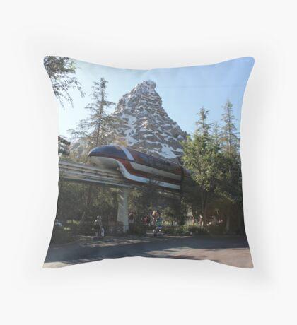 Take a ride on the Monorail Throw Pillow