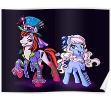 Mad T Ponies - Alice and Tarrant Poster