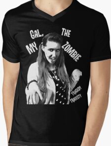 My Gal, the Zombie- Horror Host Punk Mens V-Neck T-Shirt