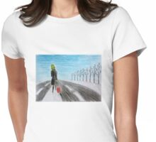 Lonely voyage Womens Fitted T-Shirt