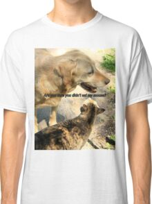 Dog and Cat Humor Classic T-Shirt