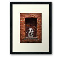 Slightly Glum Doorway Framed Print