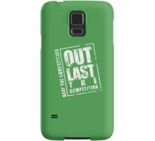 Out Last The Competition - Green Samsung Galaxy Case/Skin