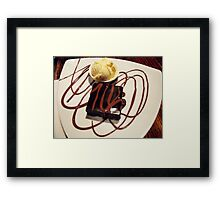 chocolate brownie and ice-cream! Framed Print