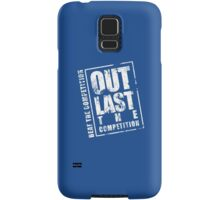 Out Last The Competition - Blue Samsung Galaxy Case/Skin