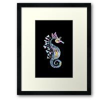 Creative Watercolor Seahorse Framed Print