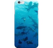 Numerous Caribbean reef sharks iPhone Case/Skin