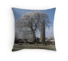 Round Tower  Clones Co.Monaghan Ireland Throw Pillow