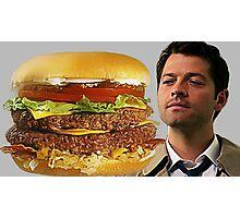 Castiel Loves Burger Photographic Print