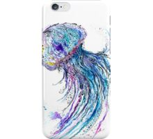 Jelly fish watercolor and ink painting iPhone Case/Skin
