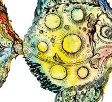 Watercolor fish illustration Sticker