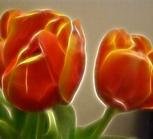 fractal tulips by Cheryl Dunning