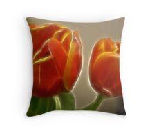 fractal tulips Throw Pillow