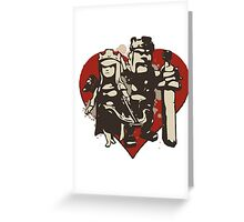 King And Queen Greeting Card