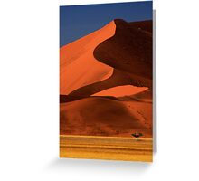 Big Dune Lone Tree, Sossusvlei, Namibia. Africa. Greeting Card