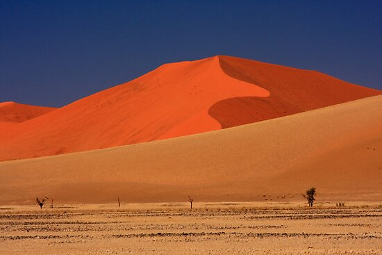 Sand Dunes and Desert Heat, Sossusvlei, Namibia. Africa. by PhotosEcosse