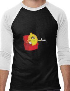 Lazy Lemon... Men's Baseball ¾ T-Shirt