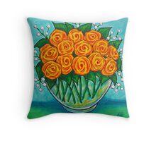 Orange Passion  Throw Pillow