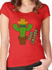 Cool Cactus Women's Fitted Scoop T-Shirt
