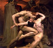 Dante and Virgil by William-Adolphe Bouguereau by troycap