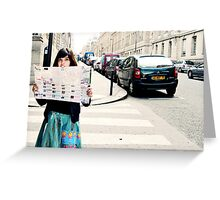 Lost In Paris Greeting Card
