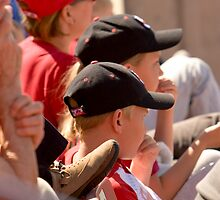 Hat Series - Two Young Boys Wearing Baseball Caps by Buckwhite