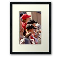 Hat Series - Two Young Boys Wearing Baseball Caps Framed Print