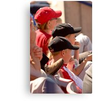 Hat Series - Two Young Boys Wearing Baseball Caps Canvas Print