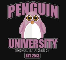 Penguin University - Pink 2 T-Shirt
