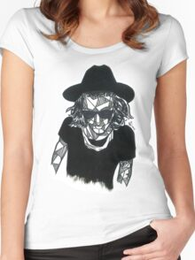 Geometric Harry Styles Women's Fitted Scoop T-Shirt
