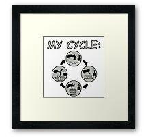 My Cycle  Framed Print