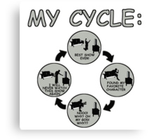 My Cycle  Canvas Print