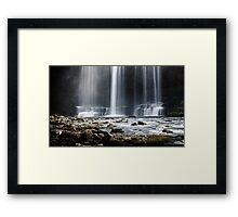 Sgwd yr Eira waterfalls Framed Print