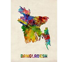 Bangladesh Watercolor Map Photographic Print