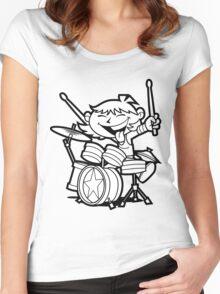 Drummer Boy Women's Fitted Scoop T-Shirt