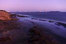 Dusk light on the Mediterranean coast by Patrick Morand