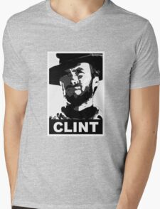Clint: Conservative Edition Mens V-Neck T-Shirt