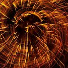 Fireworks in Abstract 03 by Aden Brown