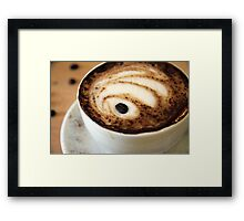 sinking coffee bean Framed Print
