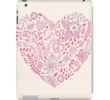 Heart shaped love vector cute pattern iPad Case/Skin