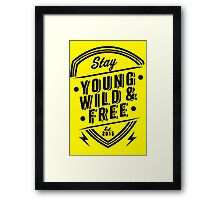 Young Wild Free Framed Print